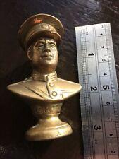 Old Brass Bust Of Michael Collins Irish Hero Rare.