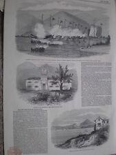 HMS Medea attacks Jumas pirates Tirnpak harbour China 1849 print my ref T