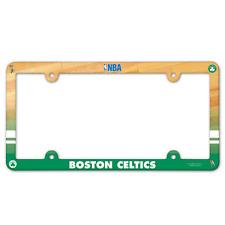 BOSTON CELTICS PLASTIC LICENSE PLATE FRAME NEW & OFFICIALLY LICENSED