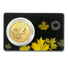 2014 Canada 1 oz Gold Howling Wolf .99999 BU (Assay Card) - SKU #81490