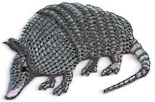ARMADILLO, ANIMAL- TEXAS - Iron On Embroidered Applique Patch/Southwest Animal