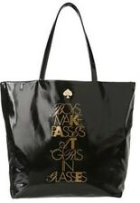 Kate Spade New York Required Reading Black Bon Shopper Tote Bag Boys Make Passes