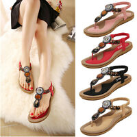 Women New Summer Bohemia Slippers Flip Flops Lady Flat Sandals Beach Thong Shoes