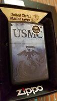 ZIPPO 28744 US Marine Corps Black Matte Full Size NEW in box Windproof Lighter