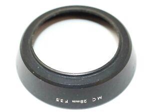 Minolta Metal Lens Hood for 28mm f3.5 MC Lens
