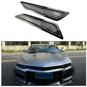2x Decorative Air Flow Intake Scoop Hood Vent Front Engine Cover For Car Bonnet