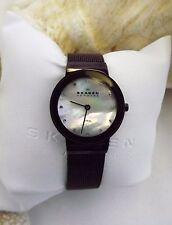Skagen Ladies Quartz Brown Dial Brown Mesh Watch 358SMMD  BEAUTIFUL