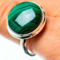 Large Malachite 925 Sterling Silver Ring Size 10.75 Ana Co Jewelry R25475F