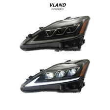 VLAND LED Headlights For 2006-2012 Lexus IS 250 350 ISF Front Lights Assembly