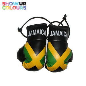 Jamaica Mini Boxing Gloves - Show Your Colours - Cheapest on ebay - Marley/Usain