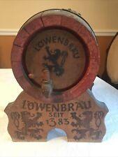 Antique Lowenbrau Munich Beer Barrel