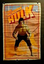 Rare ORIGINAL VINTAGE 1979 LOU FERRIGNO as THE INCREDIBLE HULK POSTER Marvel TV