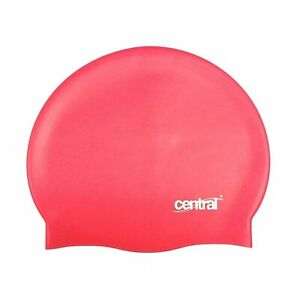 Central 100% Silicone Adult Swim Swimming Cap - Pink - New