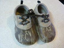 CROCS Axle All-Terrain Clogs Lace Up Camo Men's 2 Women's 4 Oxfords As New Brown