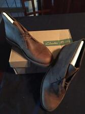 MENS BEESWAX BROWN LTHR CLARKS BUSHACRE CHUKKA CASUAL BOOTS US 14 EUR 47 47.5 48