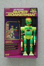 "New 1991 Larami SUPER SOAKER MAN 9"" Robot Figure Water Squirt Gun New in Box"