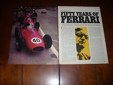 50 YEARS OF FERRARI  - 1968 ORIGINAL VINTAGE ARTICLE