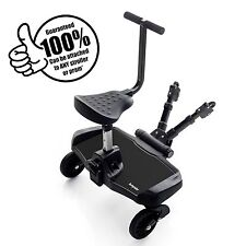 NEW BLACK BUMPRIDER SIT CHILDS UNIVERSAL ADJUSTABLERIDE ON BUGGY STROLLER BOARD