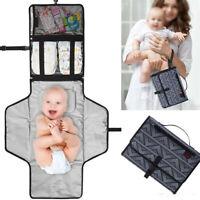 Portable Baby Changing Mat Toddler Diaper Nappy Pad Bag Handbag Travel Foldable