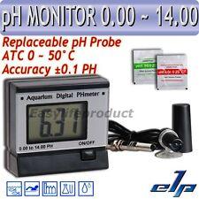 Digital Metro pH Monitor Medidor Probador BNC ATC Sonda Reemplazable Acuario con