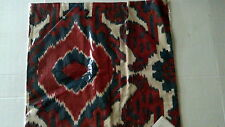 """Pottery Barn Aldrich Ikat Embroidered 20"""" Pillow Cover Blue Red Ivory NWT"""