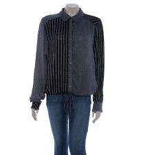 Free People Top - Striped Shirt Black | 21165 | Size L