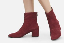 04b43a9a8b6  170 size 6 Kenneth Cole Eryc Wine Suede Heel Ankle Booties Womens Shoes