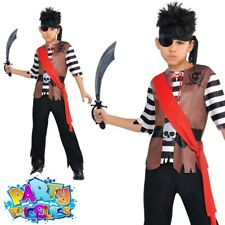 Kids Ahoy Captain Costume Boys Pirate Fancy Dress Halloween 4-16 Years Amscan L - Large