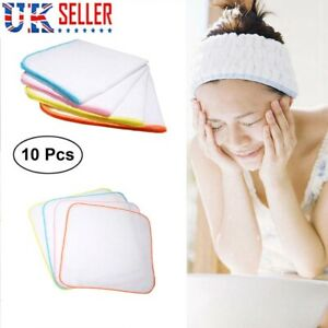 10 pcs  Cotton Face Facial Cleansing Muslin Cloth Towel Cleaning Makeup Removal