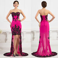Formal Long Evening Ball Gowns Party Prom Wedding Bridesmaid Maxi Dress Size 16