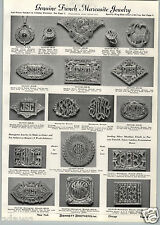 1941 PAPER AD French Marcasite Jewelry Jewelry Brooch