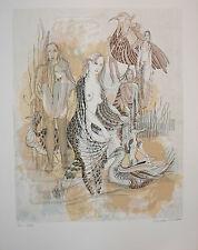 Très belle Lithographie Originale de Françoise Muller .