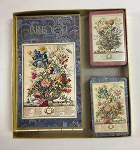 """Vintage Caspari """"Winterthur"""" Bridge Playing Cards, Double Decks, 2 Score Pads"""
