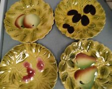 Majolica plates & Cake Plate Charger Set of four Sarreguemines French faïence,