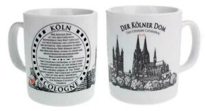 Cologne Cathedral Coffee Cup Souvenir Germany, Coffee Mug, White, New