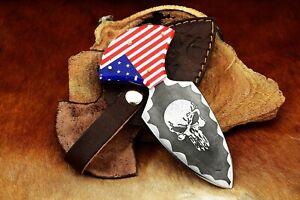 MH Rare Custom Carbon Steel Art Skinning Skull Design Knife,Dagger Colors MH-43K