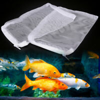 2pcs filter media bags 20x15CM reusable aquarium fish tank pond net mesh bag HI