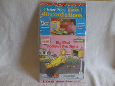 Vintage 1984 Fisher Price Sesame Street Big Bird Story Record & Book-Unused-Pkg