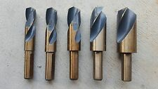 "Quality 5Pce (9/16""-1"") HSS 1/2"" Shank Drill Bit Set W/ Black & Gold Finished"