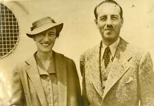 USA New York Belgian First Minister Van Zeeland & Wife Old Photo 1937