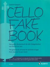 Cello Fake Book 1-2 Cellos with Chords for Guitar Piano Ad Lib String 049046302