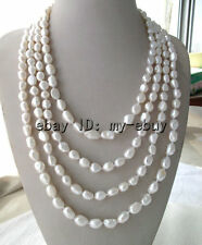"""100"""" White Freshwater Pearl Necklace"""