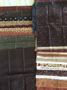 KANSAS TROUBLES quilting scraps large lot autumn and winter theme Moda