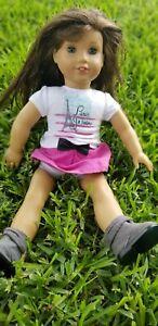 "American Girl Doll 18"" Grace Brown Hair Blue Eyes & Freckles 2014"