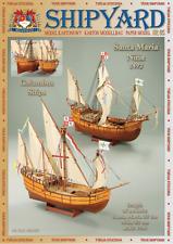 Santa Maria and Nina ships 1:96 paper model kit 35cm & 32cm long
