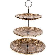 Summer Love 3 Tier Cake Pedestal - Bronze, High Tea Cake Stand, New