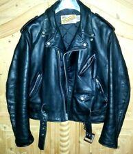 Schott Perfecto Vintage Leder Bikerjacke Biker Jacke Schwarz Gr. L / 46 US