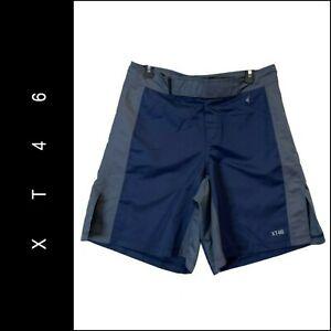 XT46 Men MMA Cross Fit Training Boxing Active Wear Short Size Medium Blue / Gray