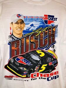 New Kyle Busch Hendrick Motorsports Retro T-Shirt XL Car Quest Chevy Chase 4 Cup