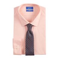 JF J Ferrar Mens Slim Fit Dress Shirt And Tie Set size S M L XL NEW